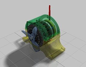 3D model Magnetic Pulse Engine Prototype Design