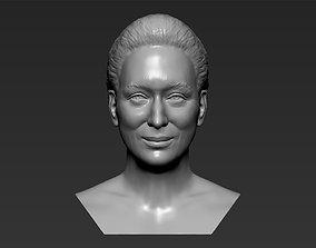 Meryl Streep bust 3D printing ready stl obj