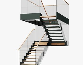 U-Type Stairs 3D
