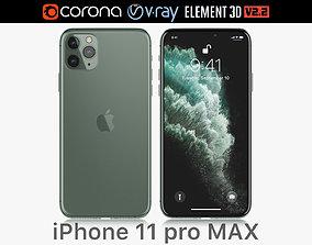 Apple iPhone 11 Pro MAX Midnight Green 2019 3D