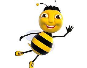 Cartoon Bee Character model 3D asset