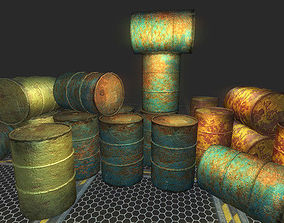 3D asset Barrel Pack Realistic