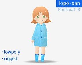 3D model lopo-san Raincoat-B