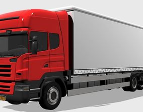 3D Truck refrigerator