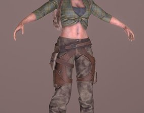 Rigged Female Survivor A 3D asset