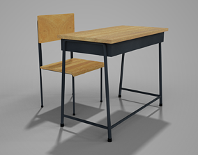 Table and Chair 3D asset low-poly