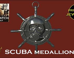 3D printable model Skull SCUBA Medal