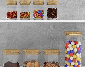 3D Kitchen set - sweets in jars