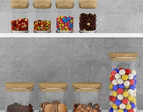 3D Kitchen set - sweets in jars