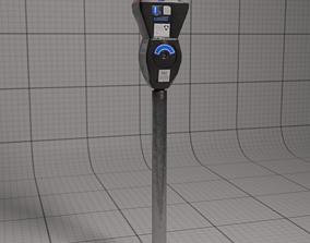 Parking Meter 3D asset low-poly