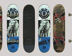 Skateboard 3D print model