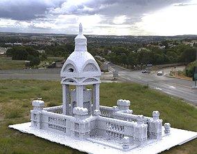 3D model Victorian architecture Ornate grave