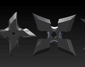 3D model ninja star naruto