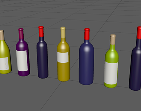 BottleB high-poly model