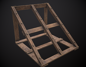 3D asset game-ready Weapon Rack