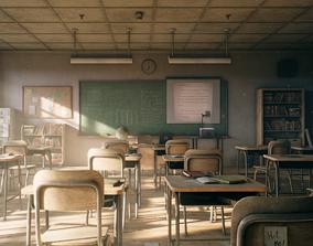 3D asset Old Classroom