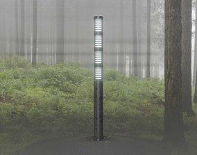 Galvanized Light-Column -15- Street-Light 9 3D asset