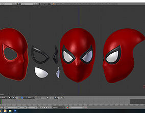 spiderman Normal Faceshell 3D print model