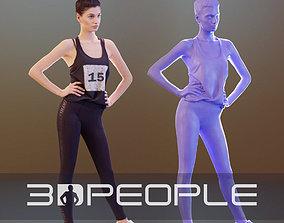 3D model VR / AR ready Myriam 10015 - Standing Athletic