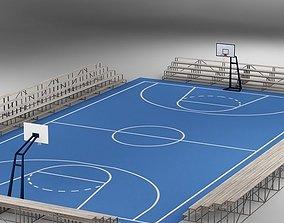 Basketball Court 02 basket 3D