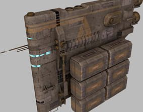 3D asset low-poly Anila cargo ship