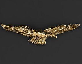 3D printable model eagle brooch