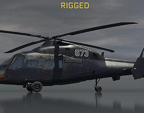 3D model Ka-60 Kasatka helicopter RIGGED