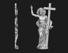 3D print model Christ Risen Bas-Relief