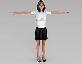 WOMAN 3D model animated