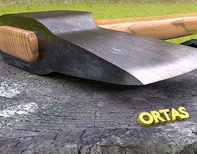ORTAS AXE NO 2 STEEL REALISTIC AXE 3D PRINTABLE