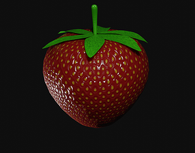 Strawberry 3D asset VR / AR ready food