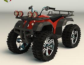 Low Poly ATV 01 3D model