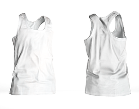 3D model Basic white male tank top