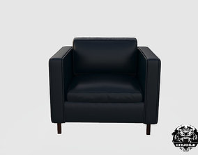 Leather Armchair architecture 3D model