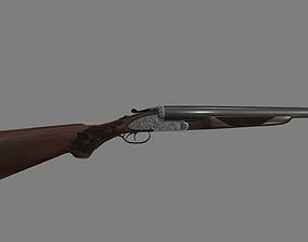 3D model Double Barreled Shotgun Gun
