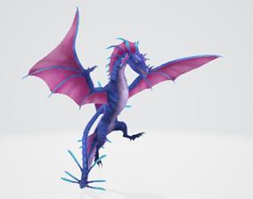dragon 3D model animated