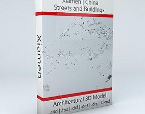 Xiamen Streets and Buildings 3D model