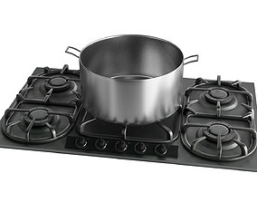 3D model low-poly Stove