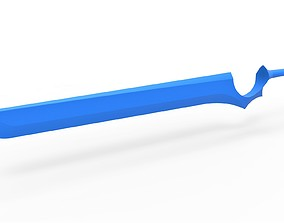 Sword of Julie Sigtuna from anime series 3D print model 1