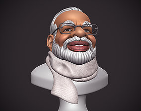 3D printable model PM Modi Cartoon Bust