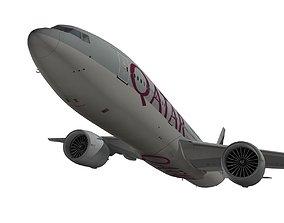 3D model Boeing 777-200LR Qatar Airways