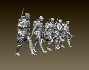 French soldier ww1 3D print model