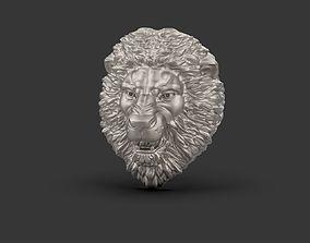gold Lion ring 3D print model