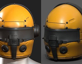 Helmet scifi fantasy futuristic technology 3D model