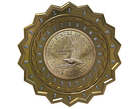 wallet Digital Currency Coin - 600 BTC 3D