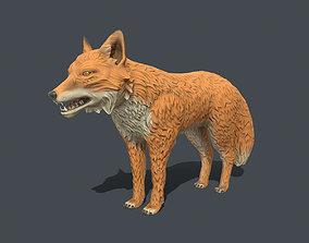 3D model Stylised fox