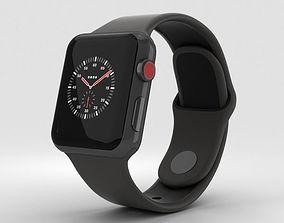 Apple Watch Edition 3 38mm GPS Ceramic Gray Black Sport 3D