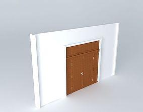 3D model Main Door 2 panels