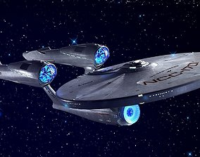 3D Star Trek Enterprise NCC 1701
