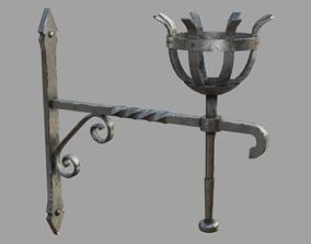 Gothic Torch 3D asset VR / AR ready